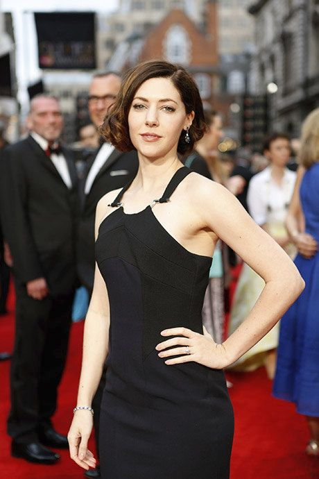 Catherine Steadman on the red carpet for the Olivier Awards 2016 with MasterCard