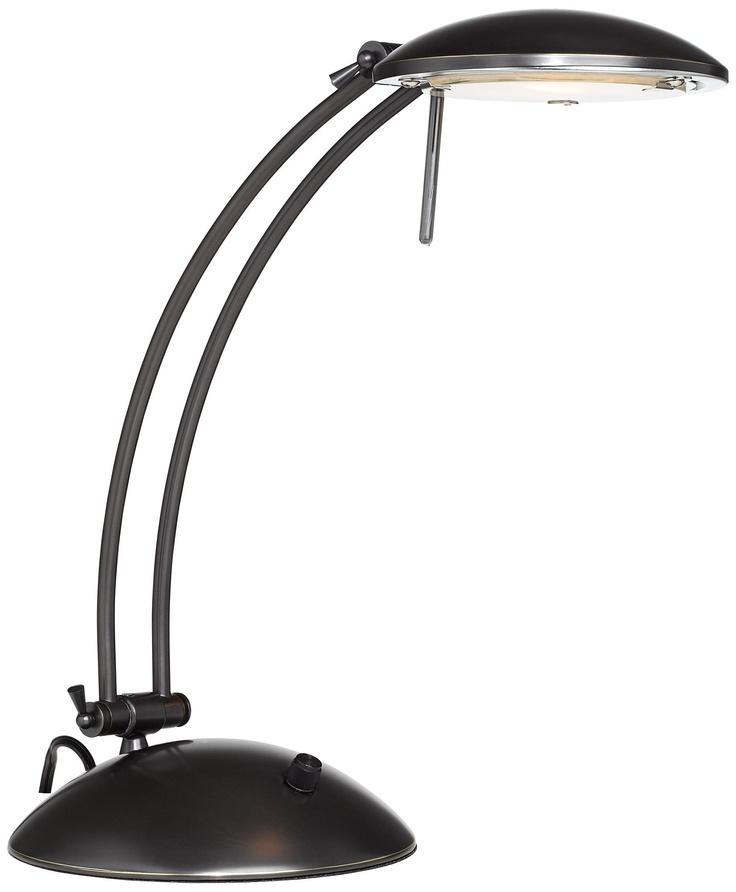 Perfect Swoop Arch Design Dark Bronze Halogen Desk Lamp