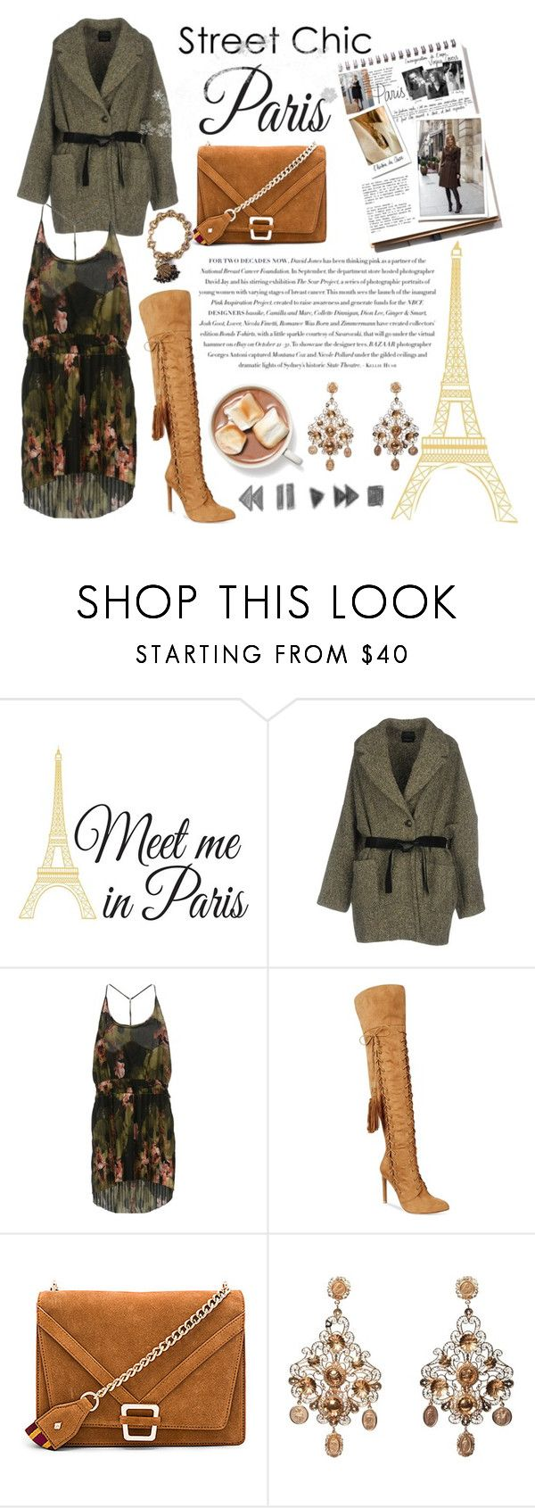 """""""Street Style 🏢"""" by marta7chi ❤ liked on Polyvore featuring Wall Pops!, Envi:, Garance Doré, Pinko, Chelsea & Zoe, Sam Edelman, Dolce&Gabbana, StreetStyle, contest and paris"""