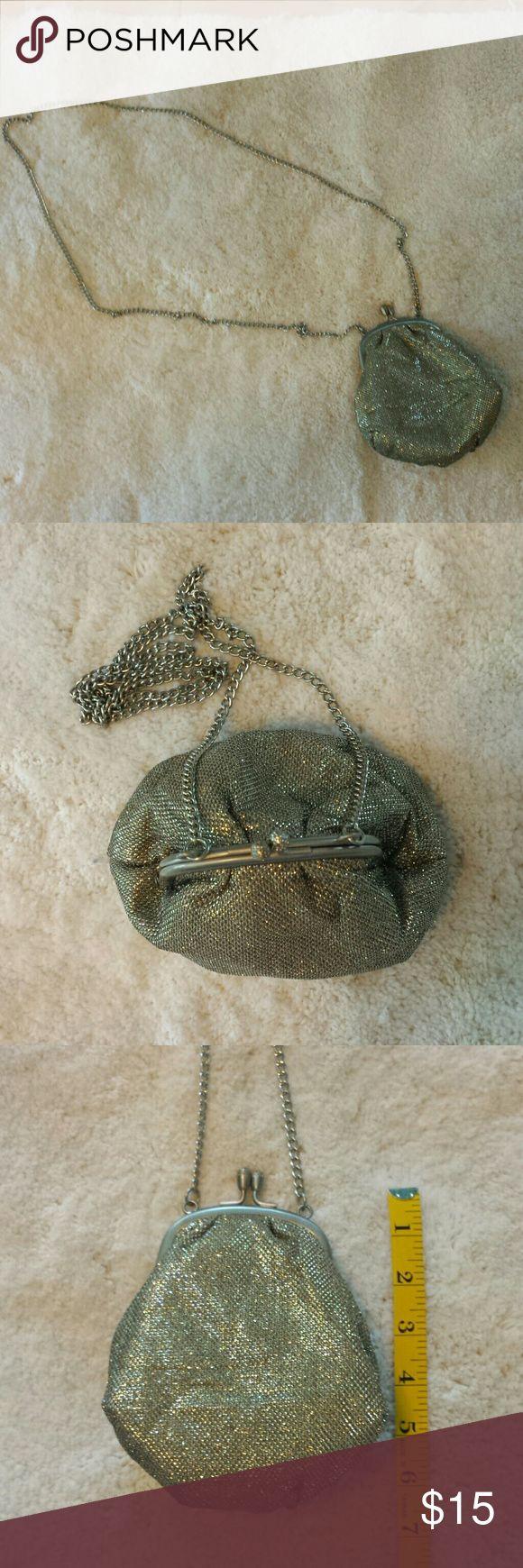 "Sparkling Gold - Silver Purse Sparkling Gold - Silver Purse.  24"" drop. Bags"