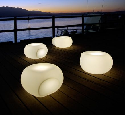 The Aura Illuminated can adapt to various environments existing effortlessly as a single unit, stacked to form a sculptural arrangement, interconnected like a vertebrae or illuminated from within. http://www.zenithinteriors.com.au/product/2486