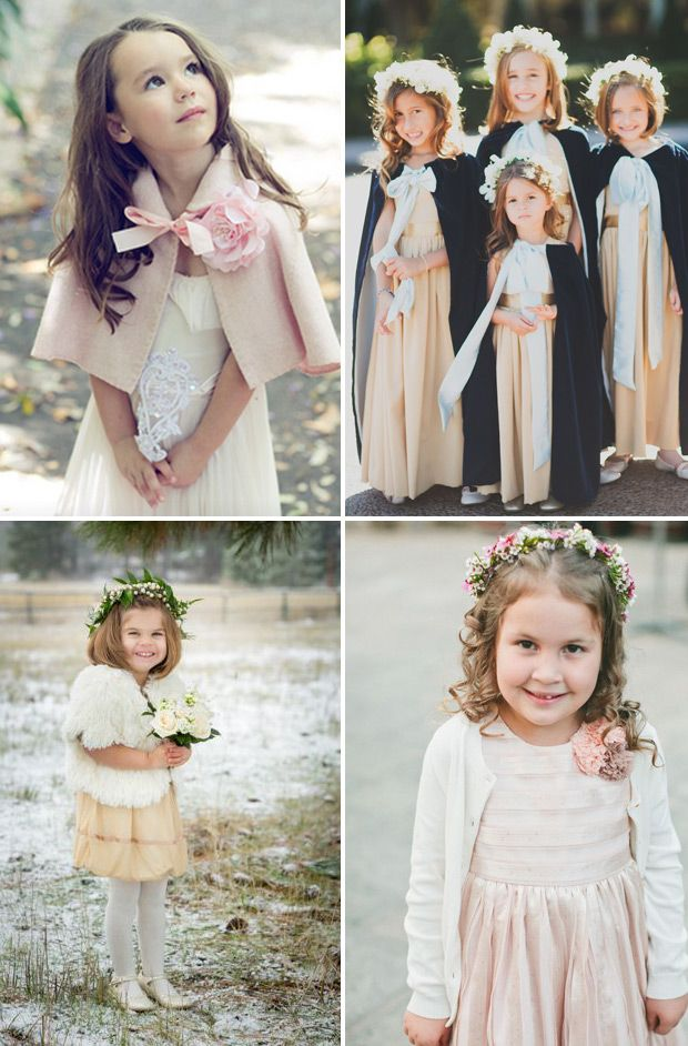 Cute Capes and Cardigans | see more winter flower girl style ideas on www.onefabday.com