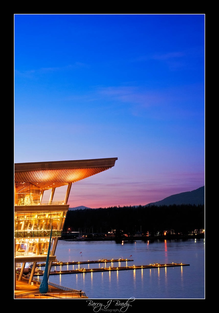 Vancouver Convention Centre at dusk!