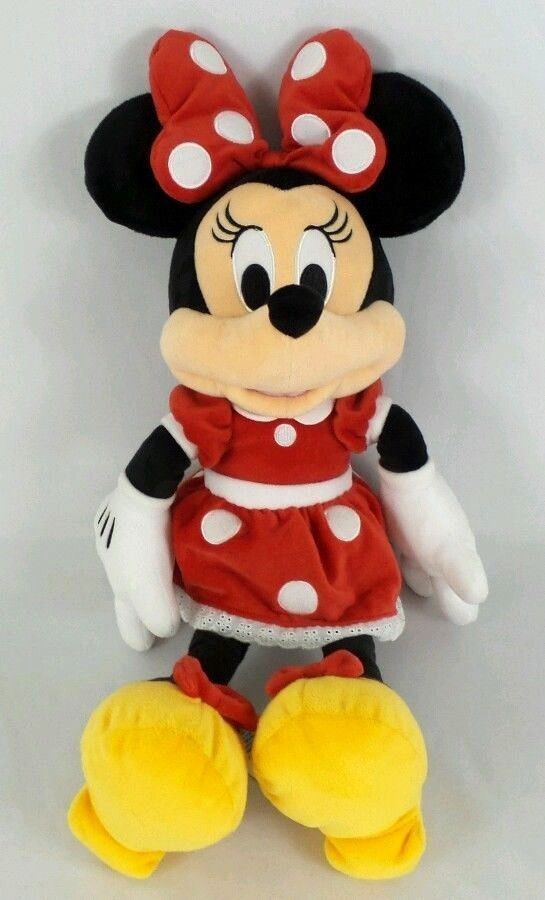 eeb108c1e25 Disney Parks Minnie Mouse Red Polka Dot Dress Plush Mini Toy Doll 18