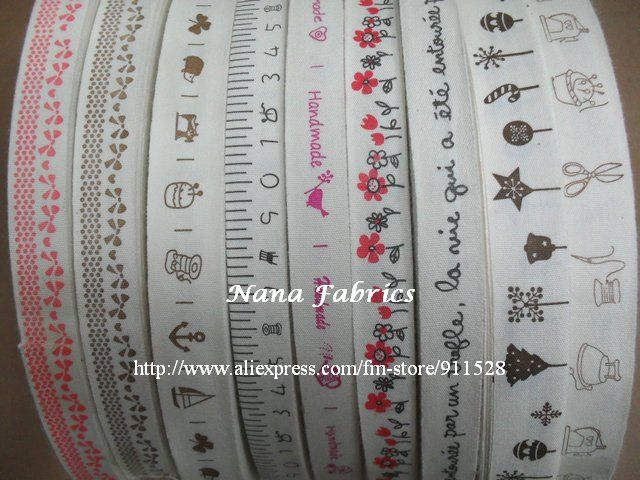zakka | Free Shipping! 100 Designs ZAKKA Cotton Printed Ribbons/Sewing Fabric ...