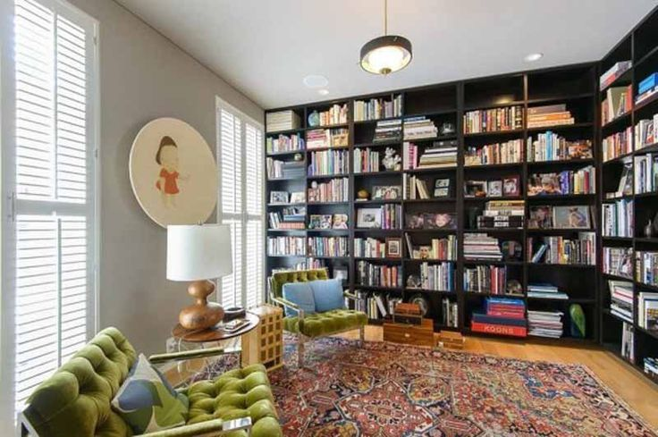 floor to ceiling bookshelves can be awesome.