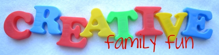 Creative Family Fun is designed to encourage creativity through ideas, crafts, food, fun, learning, and laughter.
