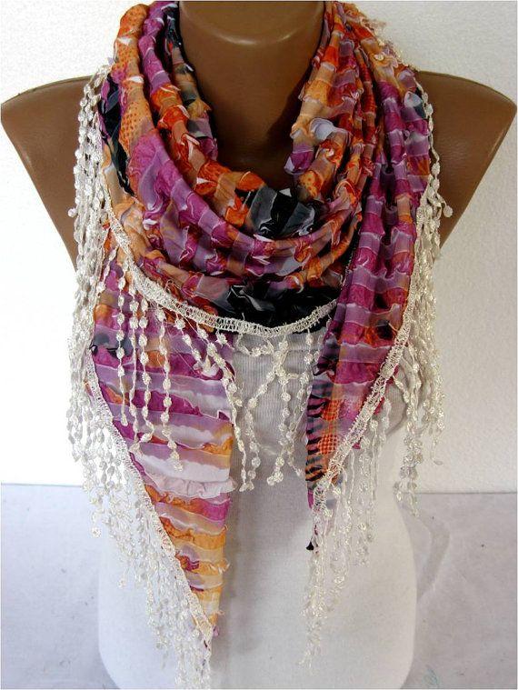 SALE  990 USD-Elegant Scarf  Fashion Scarves gift by MebaDesign