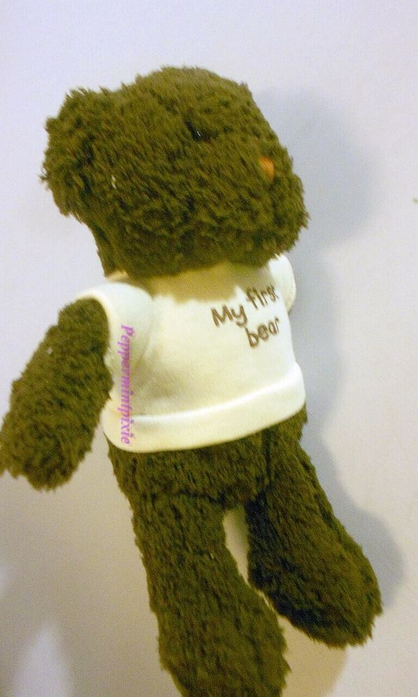Dog Toy My first Bear Puppy Stuffed Animal  50694Too Adorable New Tags- Brown #FouFouDog Made of a luxuriously soft plush with a hidden squeaker.  TOOOO CUTE   Great Gift