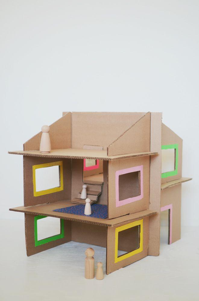 25 best ideas about cardboard dollhouse on pinterest. Black Bedroom Furniture Sets. Home Design Ideas