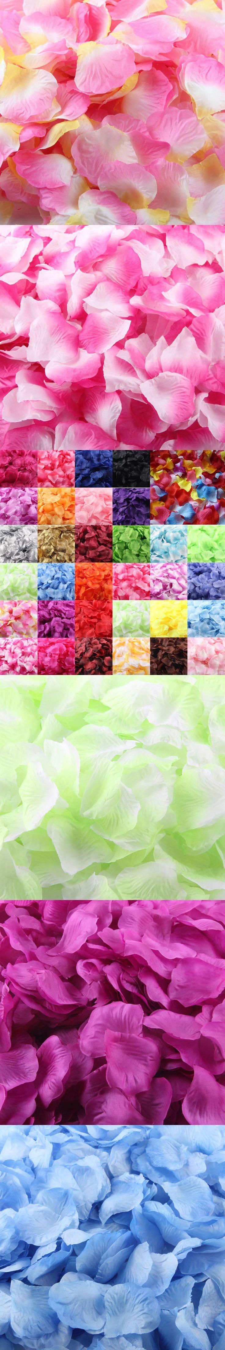 1000pcs Silk Rose Petals Artificial Flower Wedding Favor Bridal Shower Aisle Vase Decor Confetti Sep13