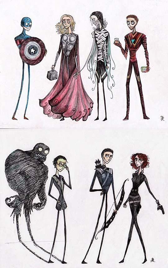 If Tim Burton made the Avengers…#funny #lol #lolzonline