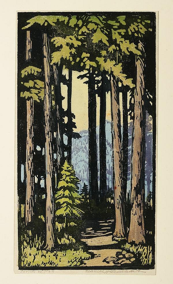 Colour woodblock print | Frances Hammell Gearhart (1869-1958)