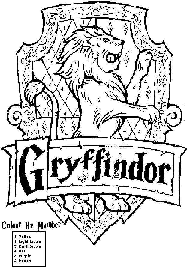 Harry Potter House Crest Coloring Pages Education