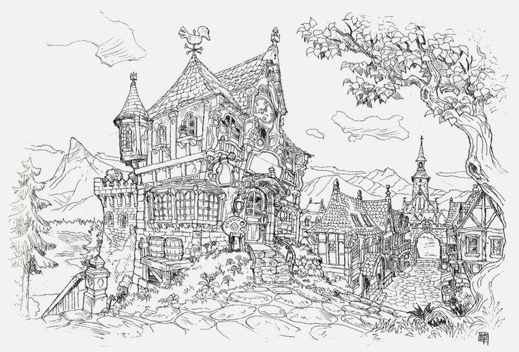 Ye olde village buildings kusanagi studios final for Final fortress blueprints