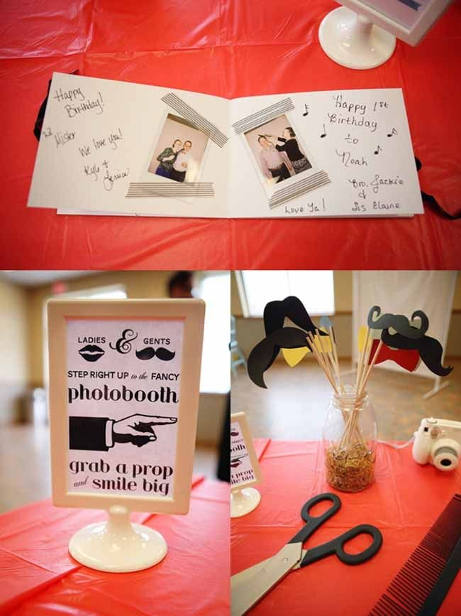Old Fashion Barber Shop {First Birthday Party} - Spaceships and Laser Beams