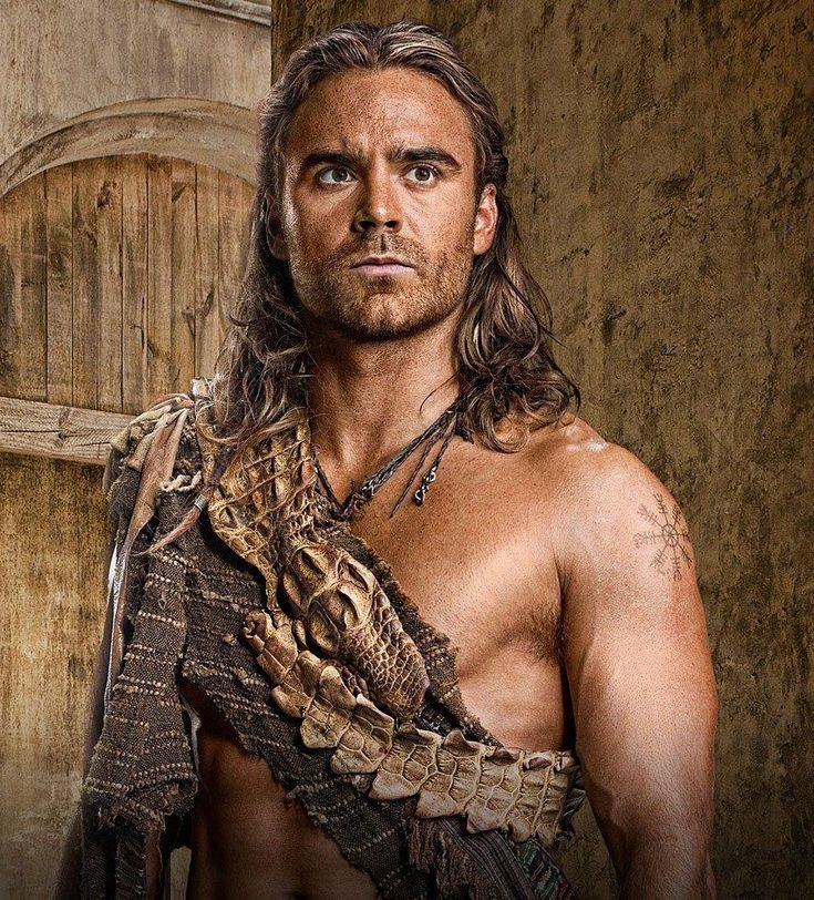 Dustin Clare - Gannicus, on Spartacus. My favorite character.