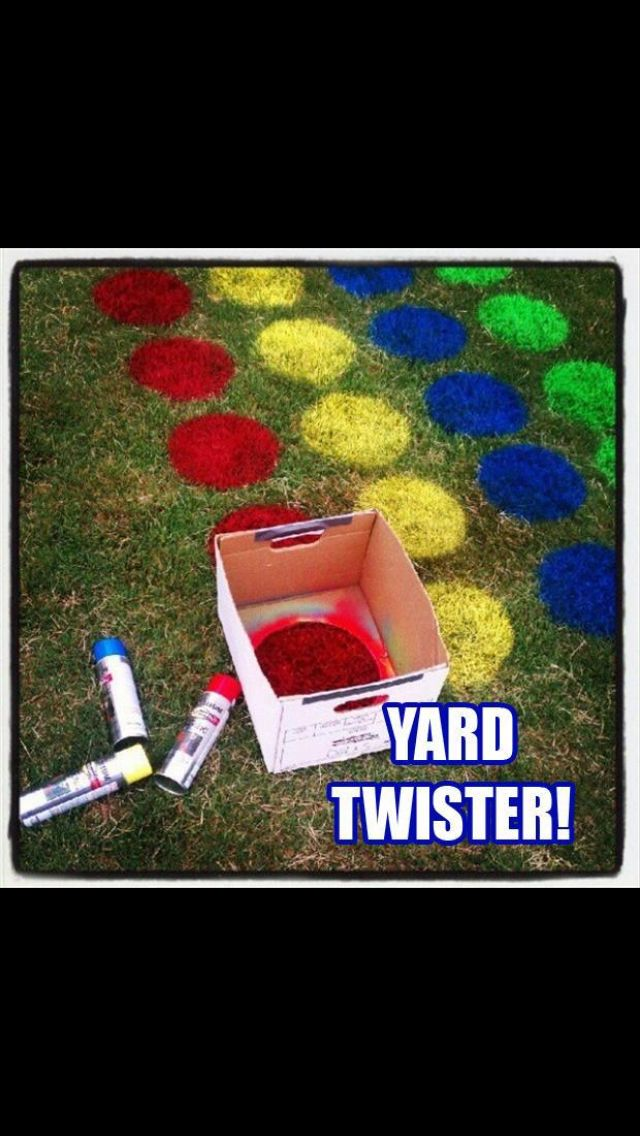Yard Twister! Great idea! I'm so doing this for J boy! (outdoor birthday games giant jenga)