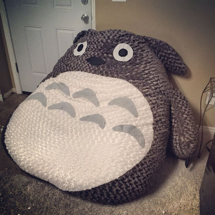 Giant Totoro Bean Bag It Was Hard To Make Him But Definately Worth