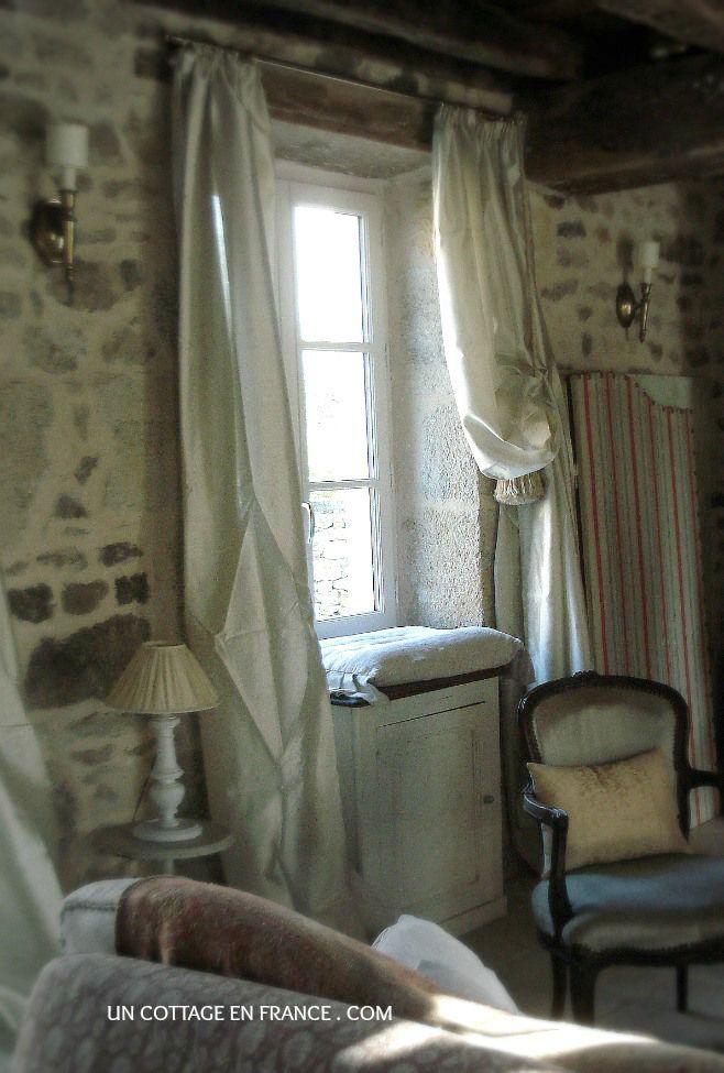 Les 25 meilleures id es de la cat gorie rideaux rustiques sur pinterest rid - Rideaux style cottage ...
