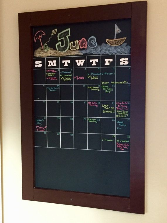 framed wall chalkboard calendar by thesophiecollection on etsy