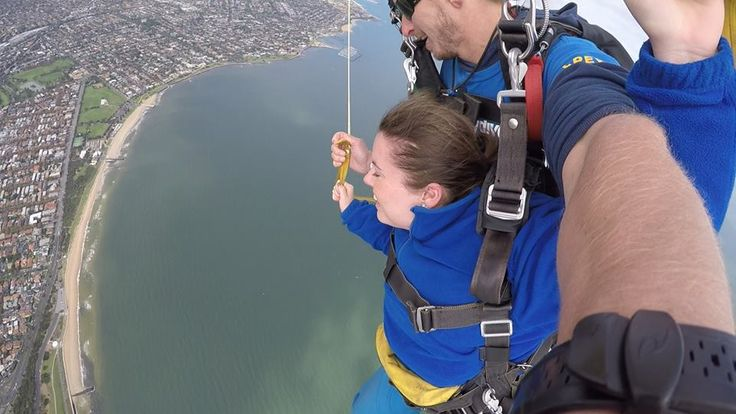 Chloe our Podiatrist went sky diving on Saturday with her husband to tick off his bucket list.  She had so much fun and would love to do it again. Her favourite part was flying through the clouds :)