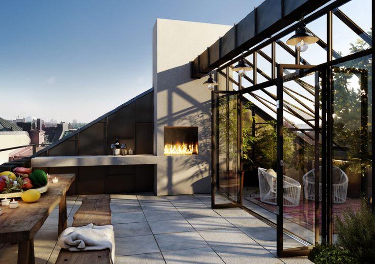Now that's a rooftop terrace!!!  Oscar Properties : Karlavägen 76
