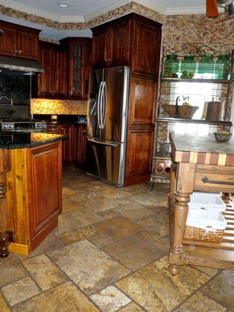 Corner Bakery Tiles : Best travertine kitchen images on pinterest room