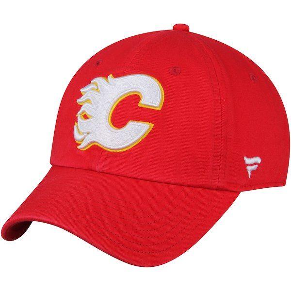 ab9d5ced525 Men s Calgary Flames Fanatics Branded Red Vintage Fundamental - Adjustable  Hat