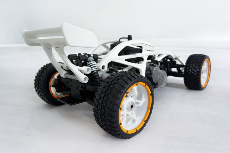 Thanks to 3D printing, it's now easier than ever to redesign products of mass production and turn them into something special. Jan Alaksa, a transportation designer, created this Petrol RC Buggy during his very first testing of VECTARY.