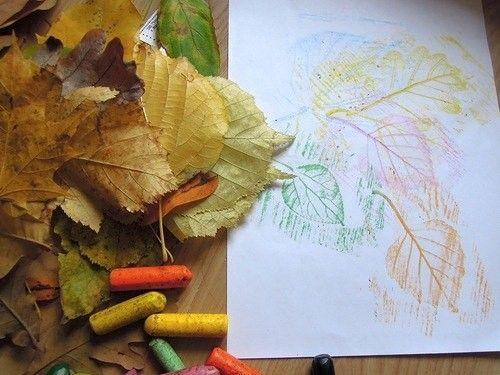 Интересный способ рисовать листья