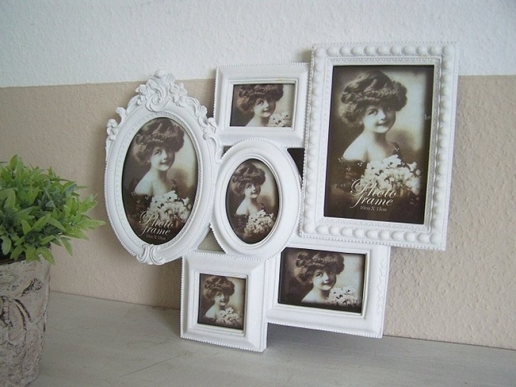 bilderrahmen collage barock weiss f r 6 fotos picture frames pinterest bilderrahmen. Black Bedroom Furniture Sets. Home Design Ideas
