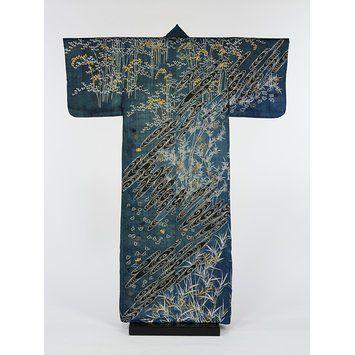 Rare Men's, Vintage, Japanese, Black, Silk, Montsuki, 5 Crest, Formal Kimono, Smooth, Fine Lustrous Silk, Family Mon Crests, Cotton Lining