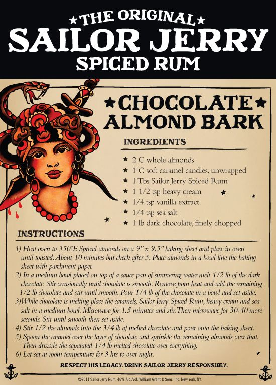Chocolate Almond Barkl | Sailor Jerry Spiced Rum