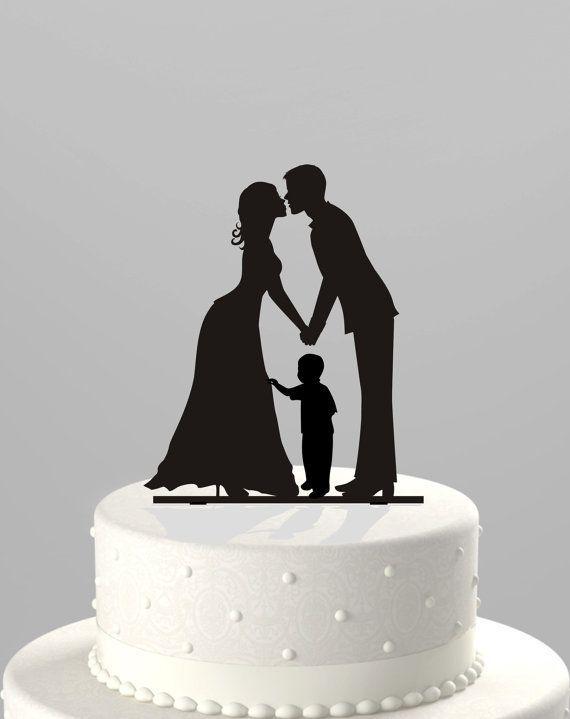 wedding cake topper mom dad son - Google Search