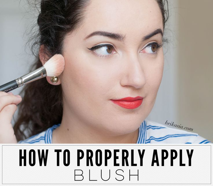 how to put blush on properly