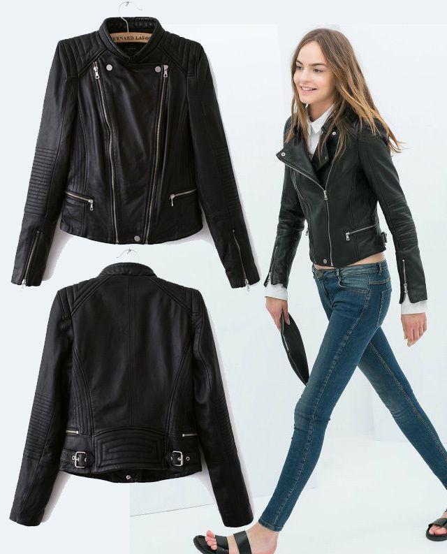 Ladies green leather bomber jacket – Modern fashion jacket photo blog