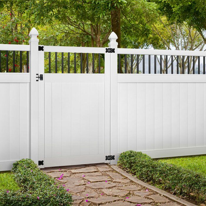 5 5 Ft H X 4 Ft W Pro Series Lakewood Vinyl Gate Backyard Fence Decor Vinyl Fence Panels Garden Gate Design