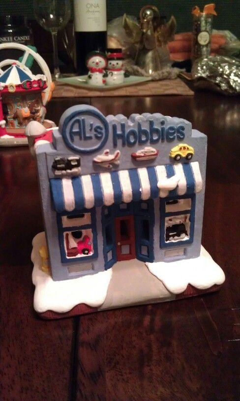 Hand painted plaster christmas village crafts for Plaster crafts to paint