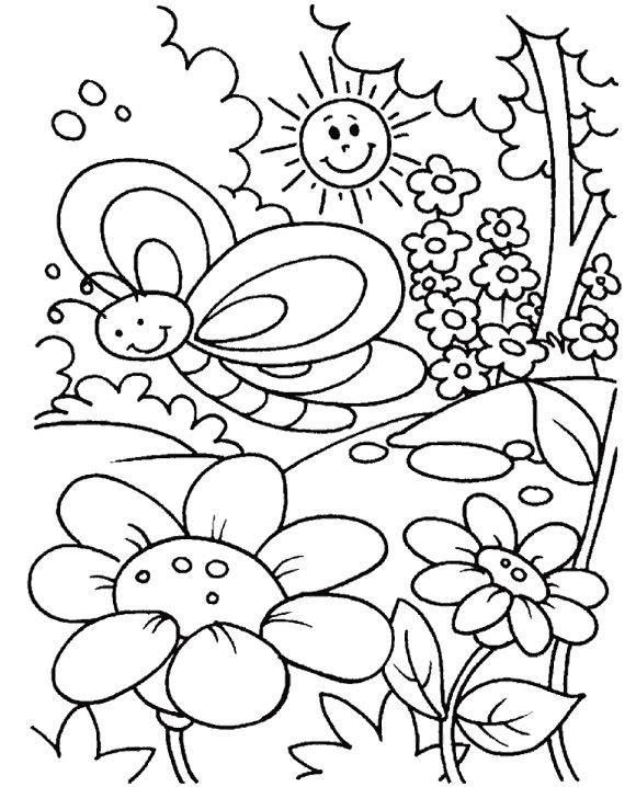 Top 35 Spring Coloring Pages Your Toddler Will Love To Color