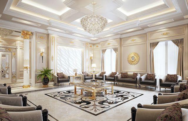 10 تصميم ديكورات مجالس ضيوف مميزة Mansion Interior Design Hall Interior Design Interior Ceiling Design