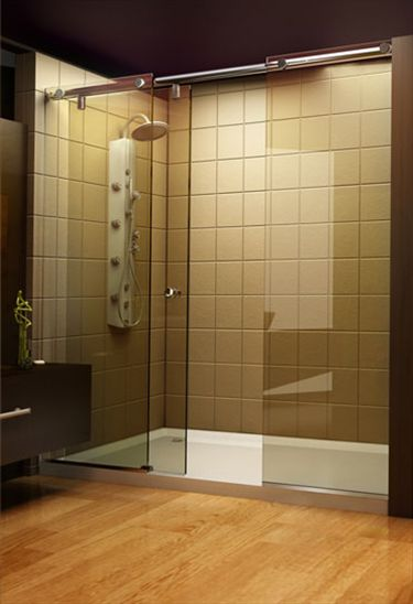 15 best custom shower doors images on pinterest custom for Pros and cons of sliding glass doors