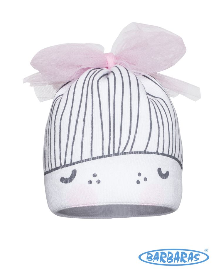 White hat for Girl #barbaras #pink #bow #hat