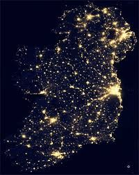 Satellite Map Of Ireland.Ireland Satellite Map At Night Ireland Maps