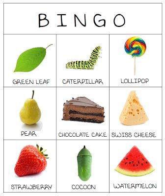 Very Hungry Caterpillar Bingo - printable