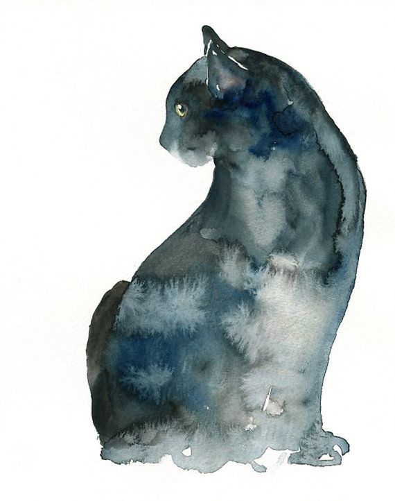 watercolor kitty painting