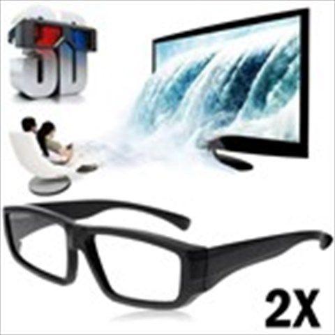2 x Fashionable 3D Active Glasses for Skyworth TV - Black