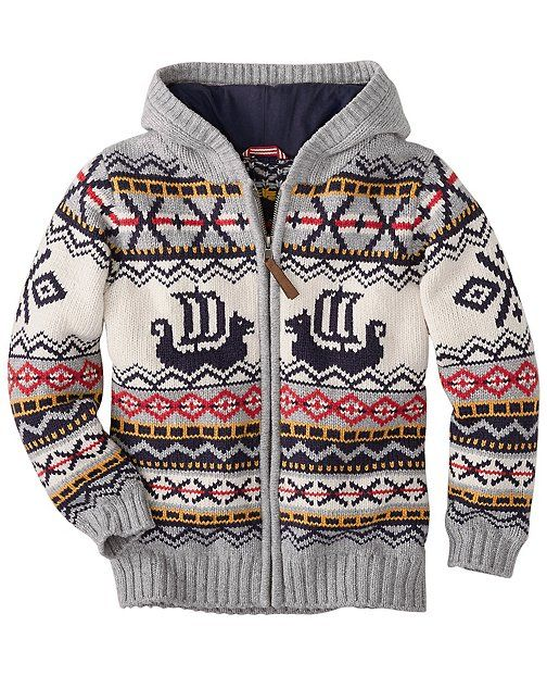 totally want this boy's sweater! --> Viking Sweater Hoodie from #HannaAndersson.