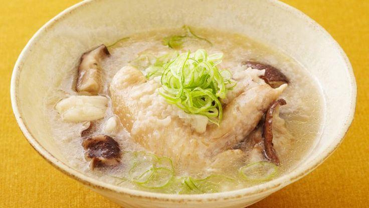 手羽先の参鶏湯風スープ