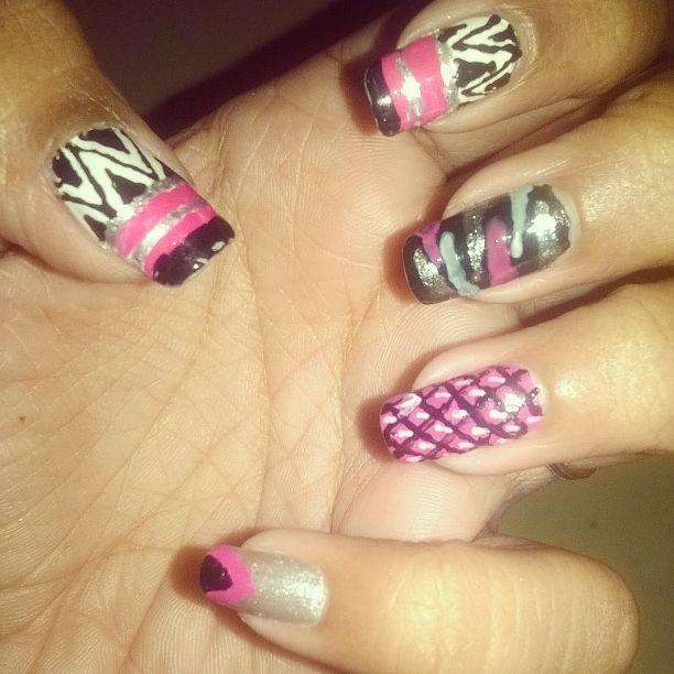 Spiky Nail art